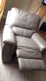 Real leather electric recliner chair