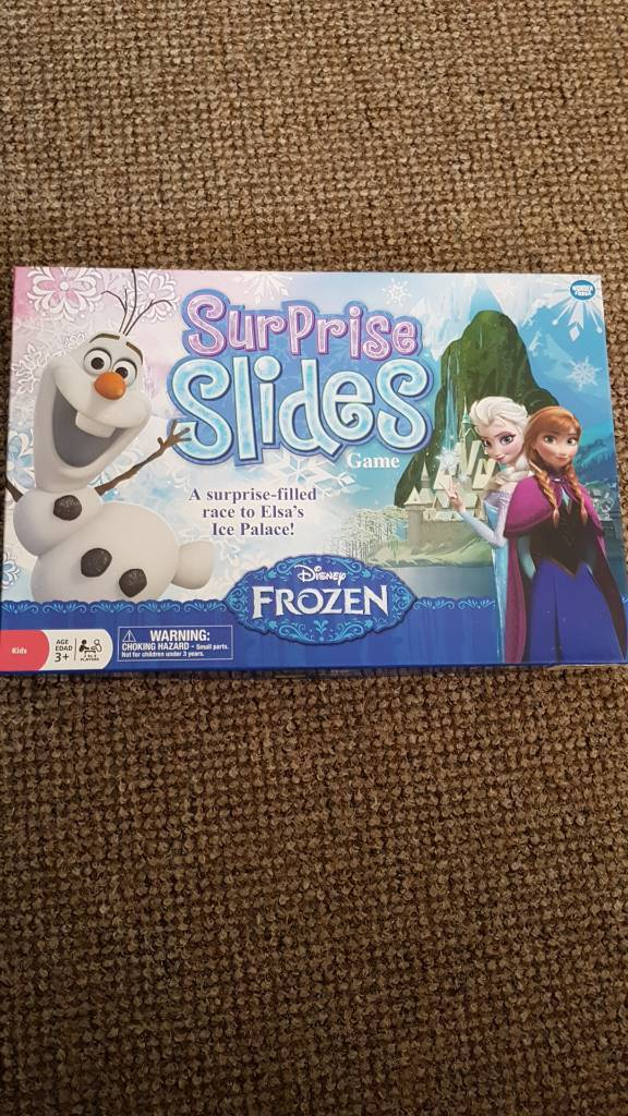 Frozen Surprise Slides Board Game