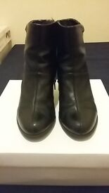 CLARKS leather boots UK5.5-FREE shipping