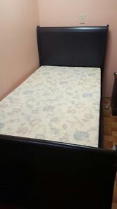 Hardwood double bed