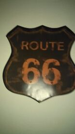 Route 66 plaque picture wall art