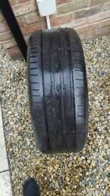 2 x Continental tyres contisportcontact ssr 225/45 R18 Y run flat bmw 3 series