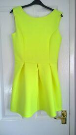Yellow skater dress. Size 10.