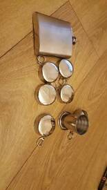 Hip flask and cups