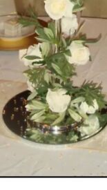 10 x Wedding diamanté mirror plates