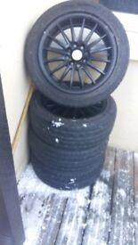 Set of 15 inch multifit alloy wheels