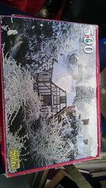 Snow Cottage Jigsaw Puzzle - 500 piece