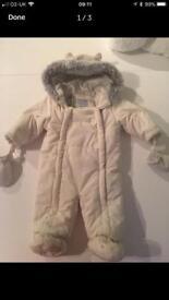 John Lewis 3-6 months snow suit