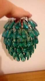 Turquoise lamp shade