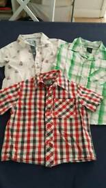 Baby boys short sleeve shirts from Next- x3. Size 12-18 months