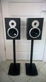 TDL Nucleus 2 Speakers (Pair) including Gale ARC Speaker Stands