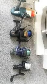 4 fixed spool fishing reels