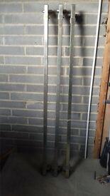 3 roof bars for ford transit or similar gutter fixing