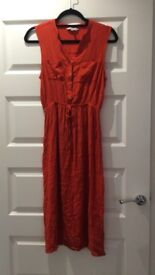 Red summer dress size 14