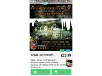 GHOST HUNT TICKETS TO ERASMUS DARWINS HOUSE LICHFIELD