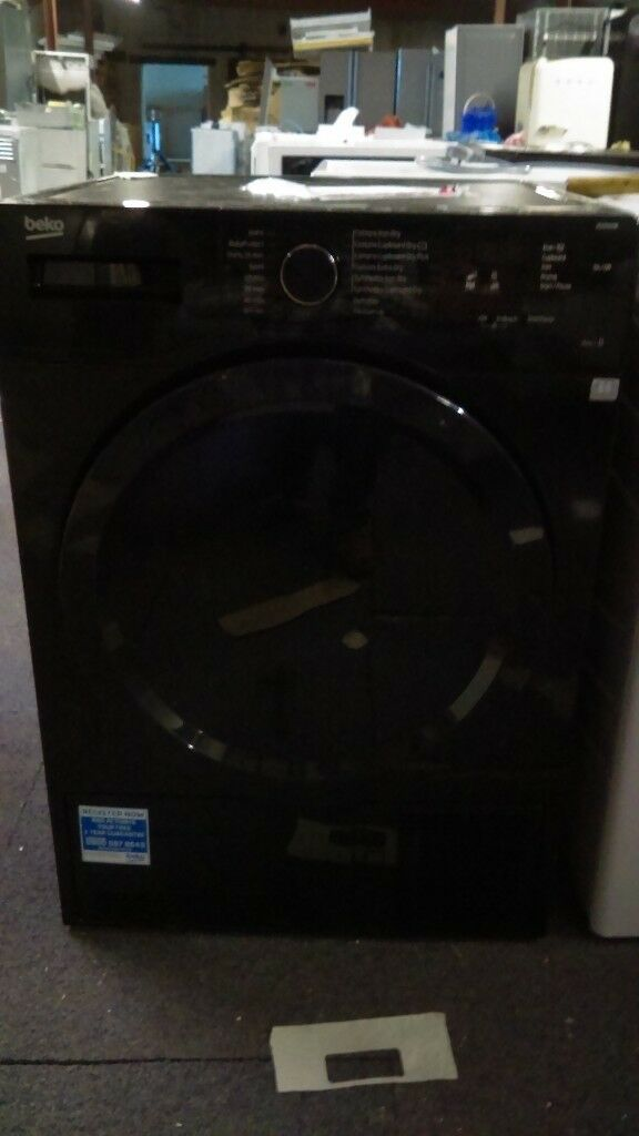 BEKO Condenser Tumble Dryer - Black new ex display which may have minor marks or blemishes.