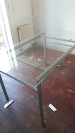 Glass table free must collect