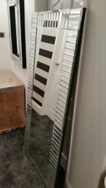 "large new mirror/piano key design 30"" x 70"""