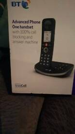 BT advanced phone one handset with 100% call blocking and answer machine