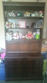 Gorgeous dark wood dresser display cabinet in fantastic condition