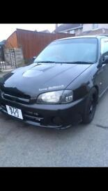 Toyota glanza 1.5 5efte forged conversion.