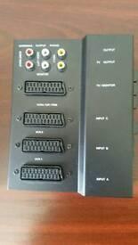 Multi scart lead control box.