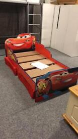 **BRAND NEW** Disney Cars Toddler Bed With Storage