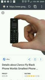 Fly zanco mobile phone smallest phone in the world new