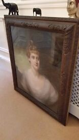antique painting in original frame, signed and dated 1899 by listed artist