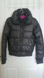 Womens brown winter jacket no hood size 8
