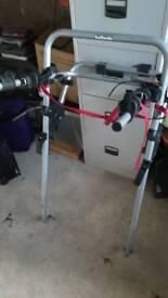 High mount clip on rear bike rack