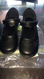 Brand new girls school shoes 12