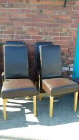 faux leather dining chairs this item is sold as a set - Delivery Available Priced Each