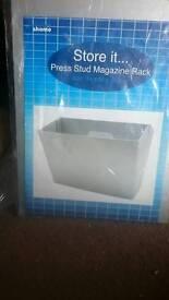 :£1 magazine rack new sealed