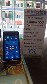 Nokia - Microsoft Lumia 550, Unlocked, Good Condition