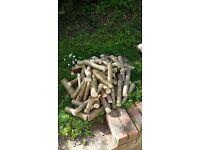 Firepit / Chiminea logs - seasoned hazel wood. Clean burn. High heat - £7 per sack