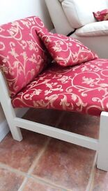Occasional Chair ~ Ideal for bedroom, dressing room, conservatory. Recently recovered, plus cushion