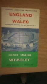 England v Wales 1960 official programme