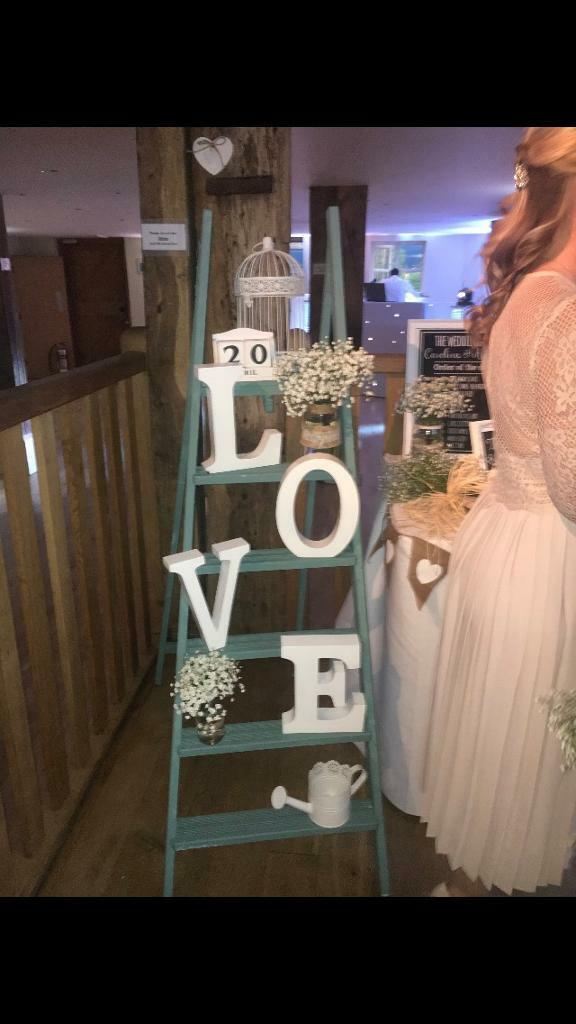 Wooden Wedding Ladder With Accessories In Hedge End Hampshire Gumtree