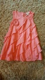 John Lewis 12-18months ruffle coral dress