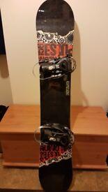 Salomon pulse snoboard and ride lx bindings 156cm