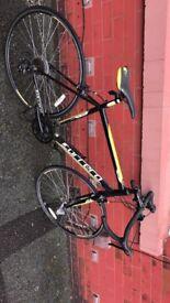 Carrera racing bike yellow and black