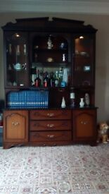 wall unit,with Drinks and display cabinet.