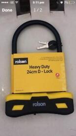 Bicycle/Motorcycle H/duty U Lock (Rolson)