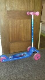 Frozen girls scooter disney, blue&pink