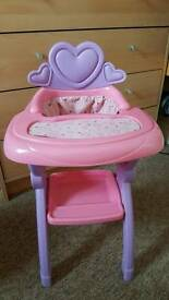 You & me toy highchair