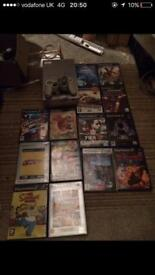 Silver Ps2 game console and games
