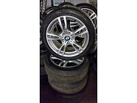 """Genuine 2013 bmw 3 series M-Sport alloys 18"""" 5x120"""