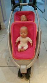 Twin Doll Pushchair