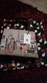 Yoshi Handbag Paris Applique Bag BNWT